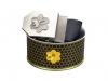 108 - Textilní opasek Včelaři - černý + Dárkové balení 1