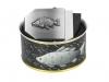 635 - Textilní opasek Rybáři  - Černý - Dárkové balení 1
