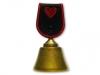 Kovový odlévaný zvonek Srdce
