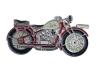 Kovový odznak odlévaný Motorka červená Jawa - nikl