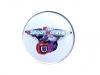 Kovový odznak s potiskem Klub ašských motorkářů