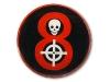Kovový odznak s potiskem Lebka