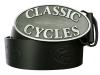 Kožený opasek s ražbou Classic Cycles