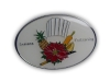 Kovový odznak odlévaný – barvený, glazura - nikl