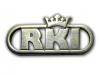 Kovový odznak odlévaný - RKI – stříbro