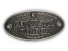 Kovový odznak odlévaný Kovářství – staronikl