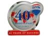 odznak s potiskem 40