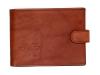 Kožená peněženka s ražbou loga hasiči-helma v hnědém provedení