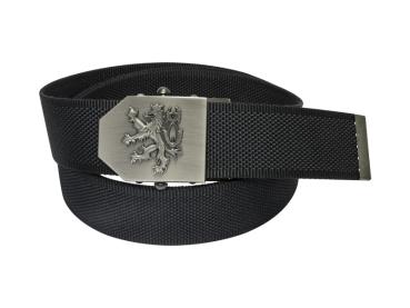 559 - Opasek Český lev 3D černý