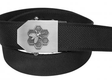 575 - Textilní opasek Včelaři - černý