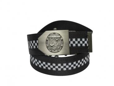 596 - textilní opasek Městská policie - šachovnice