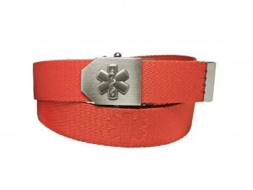 603 opasek textilní 3D hvězda života - červený