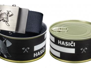 728 - Textilní opasek Hasiči - Černý - Dárkové balení 1