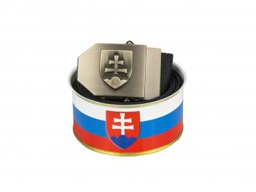 735 - Opasek Slovenský znak 3D - černý  + DÁRKOVÉ BALENÍ
