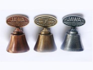 Kovový odlévaný zvonek Jawa