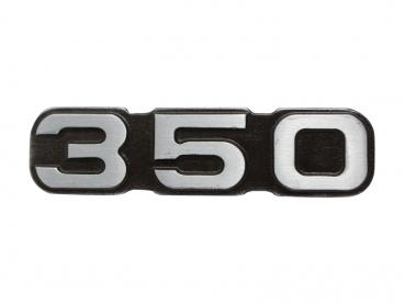 Kovový odznak nápis jawa 350 - starozinek
