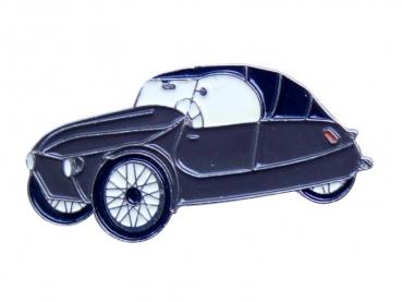 Kovový odznak odlévaný Autíčko modré Velorex - nikl