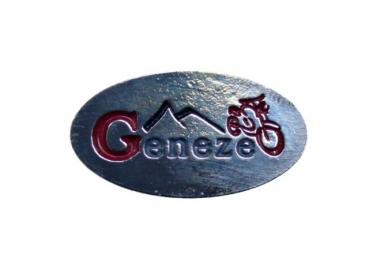 Kovový odznak odlévaný Geneze - nikl