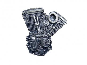 Kovový odznak odlévaný Jawa druhá - nikl