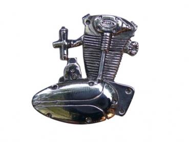 Kovový odznak odlévaný Jawa první - nikl