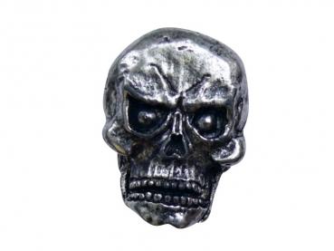 Kovový odznak odlévaný Lebka druhá - staronikl