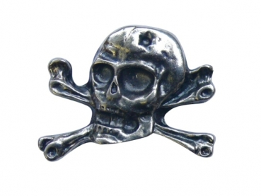 Kovový odznak odlévaný Lebka první - staronikl