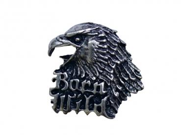 Kovový odznak odlévaný Orel třetí - nikl