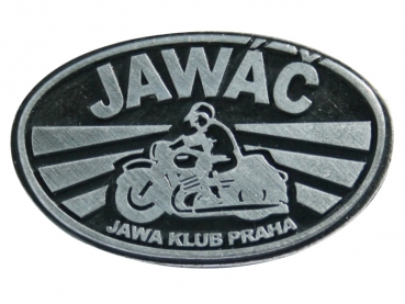 Kovový odznak odlévaný starozinek Javáč