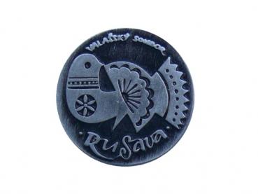 Kovový odznak odlévaný Valašský soubor -starozinek