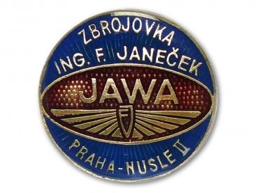 Kovový odznak odlévaný Zbrojovka - mosaz