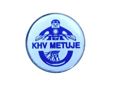 Kovový odznak s potiskem KHV Metuje
