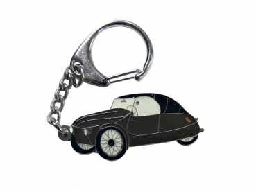 Výroba kovových přívěsků - černé autíčko