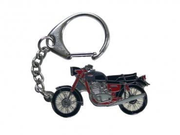 Výroba kovových přívěsků - motorka