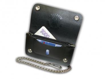 Kožená peněženka s ražbou dvoukapsová