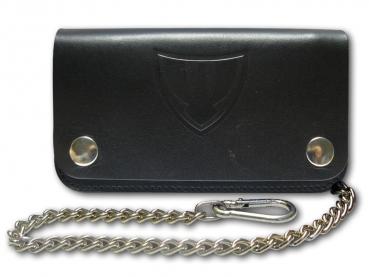 Kožená peněženka s ražbou loga