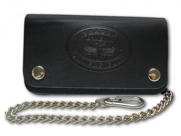 Kožená peněženka s ražbou loga Shadow Owners club