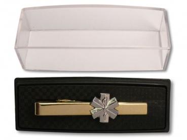 Pánská luxusní zlatá kravatová 3D spona záchranář