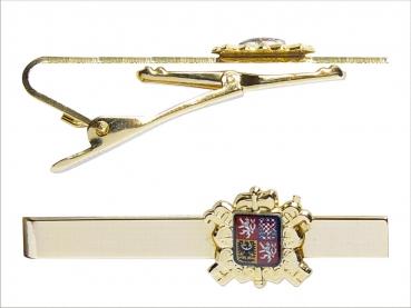 kravatová spona HASIČI odznak se státním znakem