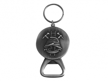 medaile s patentovanym otvirakem na pivo hasici - privesek na klice - staronikl