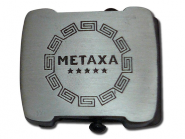 Odlévaná přezka starozinek textilní Metaxa