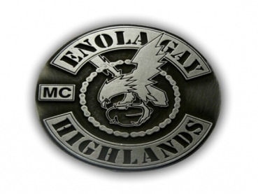Odlévaná zinková přezka Enola Gay MC
