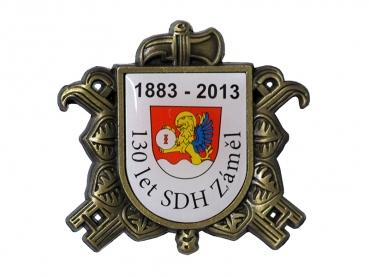 odznak hasici s potiskem sdh zamel
