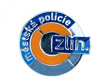 Odznak Městská policie - barvený + glazura - lesklý nikl