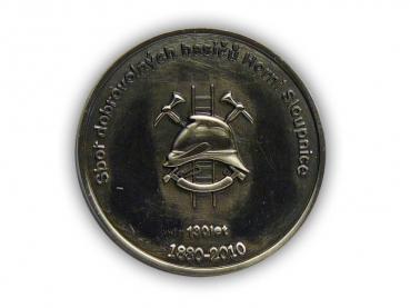 Kovový odznak odlévaný – hasiči – staronikl