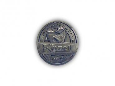 Kovový odznak odlévaný kozel – staronikl