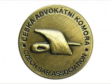odznak česká advokátní komora mosaz