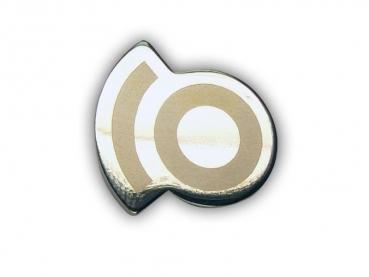Kovový odznak odlévaný – nikl s laserem