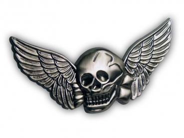 Kovový odznak odlévaný lebka – staronikl