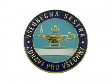odznak odlévaný barvený - mosaz