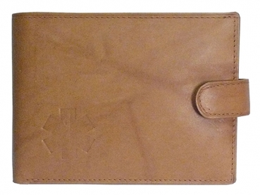 Kožená peněženka záchranáři hnědá